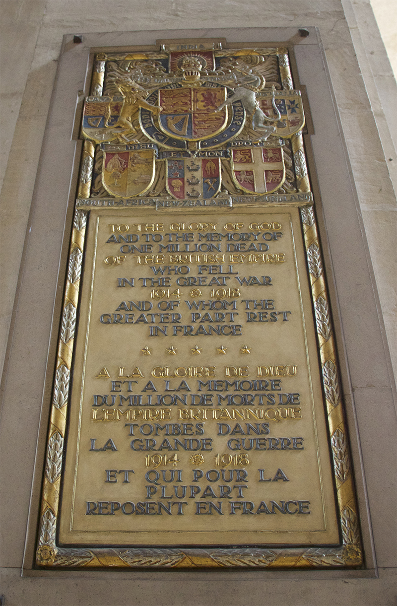 First World War Memorial Tablet in the Cathedral of Nancy
